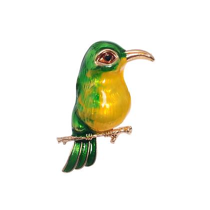 Perched Hummingbird Brooch