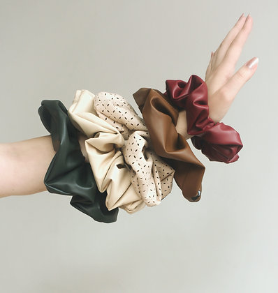 Anna Buzan Faux Leather Scrunchies