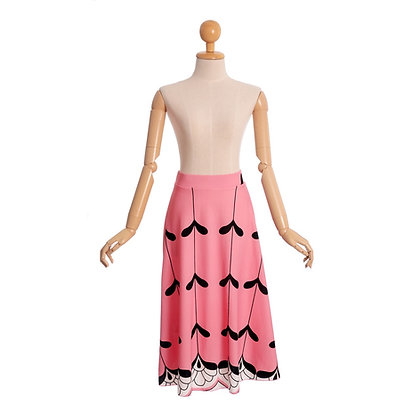 Art Deco Print Skirt