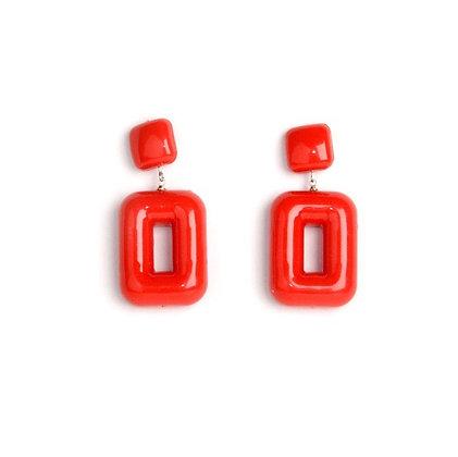 Flash Red Earrings