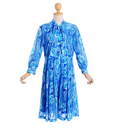 Brushstroke Blue Dress