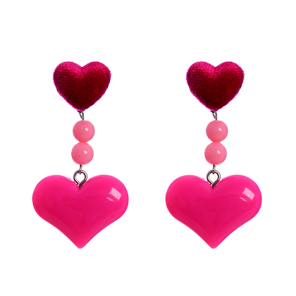 Passion For Hot Pink Earrings