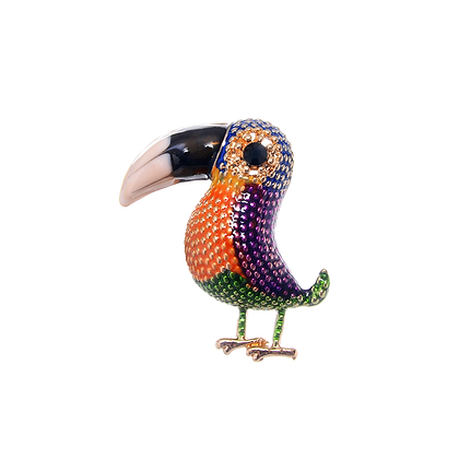 Toucan Brooch - Purple