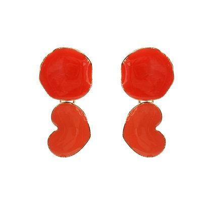 Charm in Red Earrings