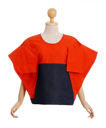 Orla Langan Draped Shoulder Top