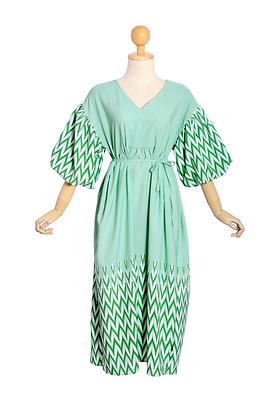 Green Pea Smock Dress