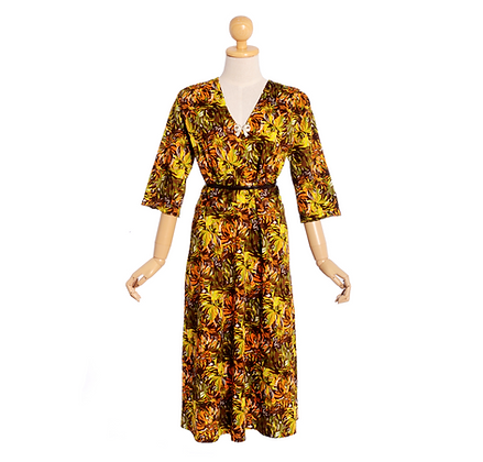 Van Gogh Florals Dress