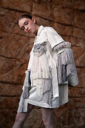 Edel Traynor Silk Cotton Jacket with Detachable Fringing