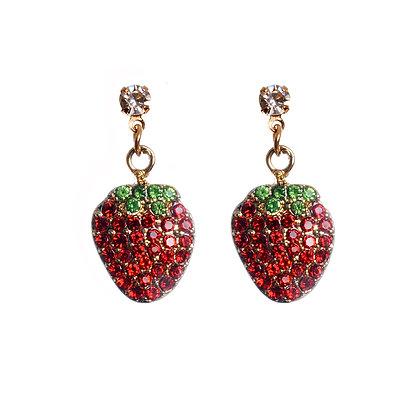 Bedazzled Berry Earrings