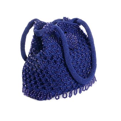 Indigo Crochet Vintage Bag