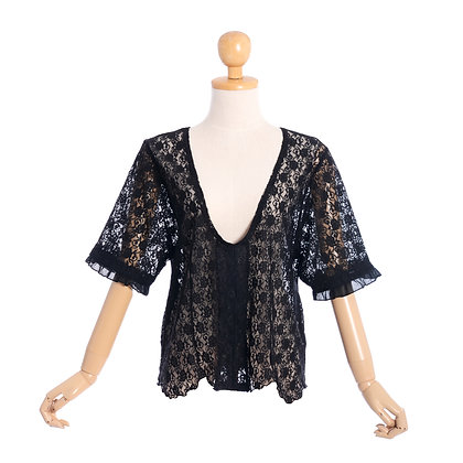 Laced in Love Vintage Blouse
