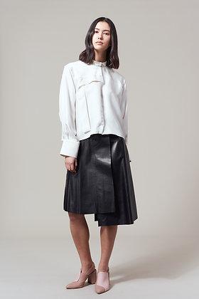Edel Traynor Leather Asymmetric Skirt