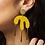 Thumbnail: Shock of Grey Megamelt Earrings in Yellow