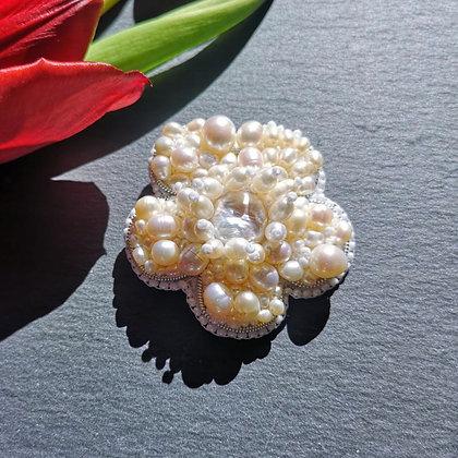 Tatiana Nestor Fresh Water Pearl Flower Brooch