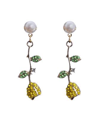 Persian Yellow Rose Earrings