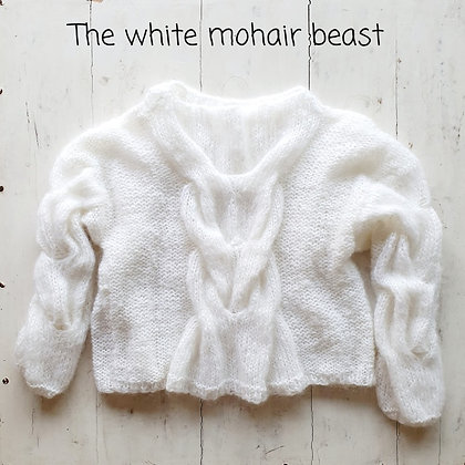 Knitted4Beasts White Mohair Beast