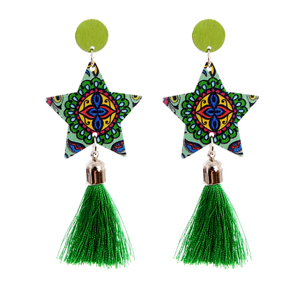 Art Deco Star Earrings