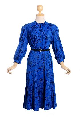 Iconic In Indigo Vintage Dress