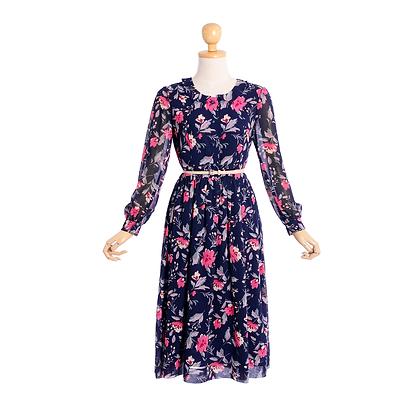 Midnight Garden Vintage Dress