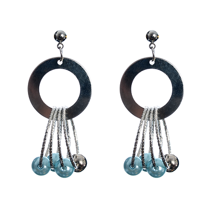 Satellite In Orbit Earrings