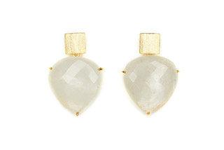 Magpie Rose Moonstone Earrings
