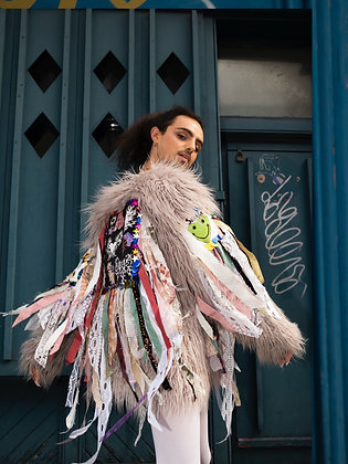 Aisling Duffy Lavender Shaggy Coat