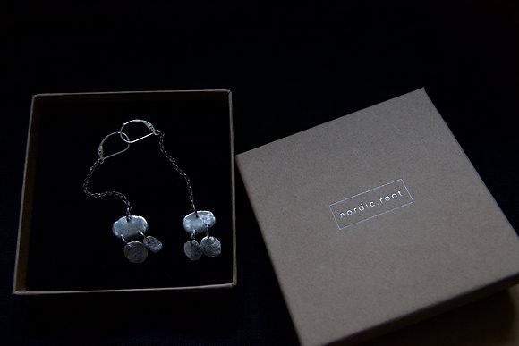 Nordic Root Silver Drop Earring Duo