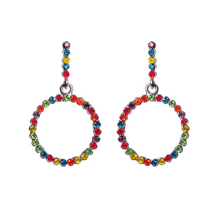 Rainbow Gem Earrings