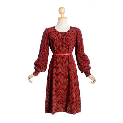 Cherry Chevron Vintage Dress
