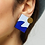 Thumbnail: Shock of Grey New Wave Earrings in Lilac & Blue