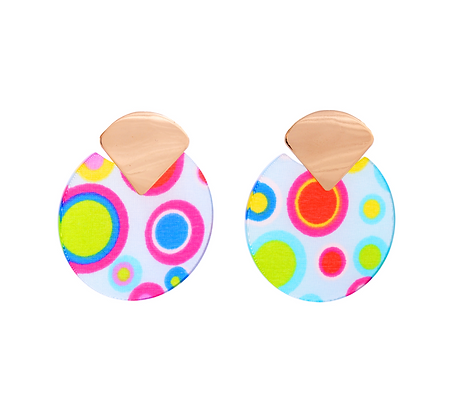 Ditzy 60's Print Earrings