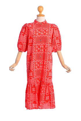 Boho Bandana Print Dress