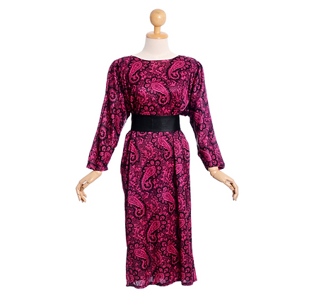 Jewel toned 1980's dress