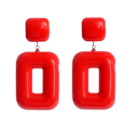 Flash Red Earrings