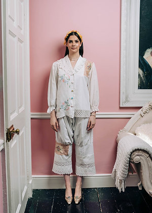 Laoise Carey Cotton Patchwork Pyjama Trousers