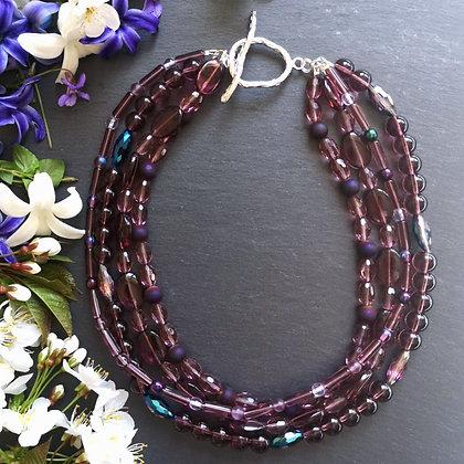 Tatiana Nestor Purple Gemstone Necklace