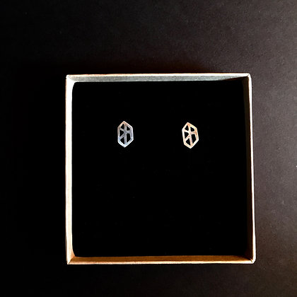 Nordic Root Silver Plantcell Earstuds