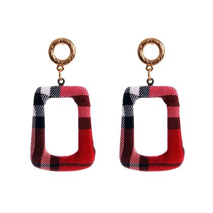 Tartan Textured Earrings