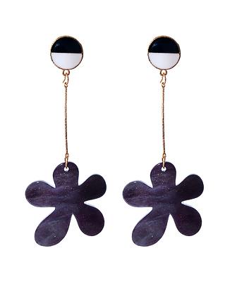 Midnight Flower Earrings