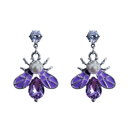 Indigo Insect Earrings