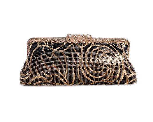 Black & Gold Vintage Glomesh Bag