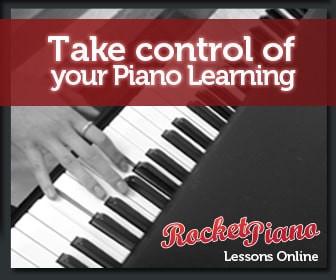 Rocket piano banner