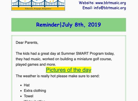 Reminder | July 8th