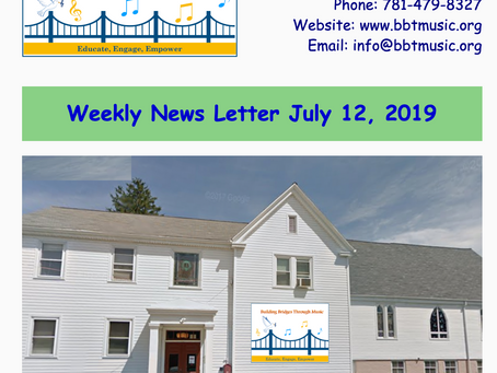 Weekly Newsletter July 12