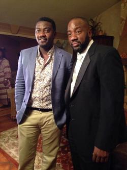 Malik Yoba & John Dumelo on set