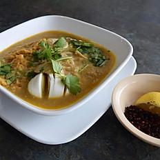 Moh Hinga (Pureed Catfish Chowder)