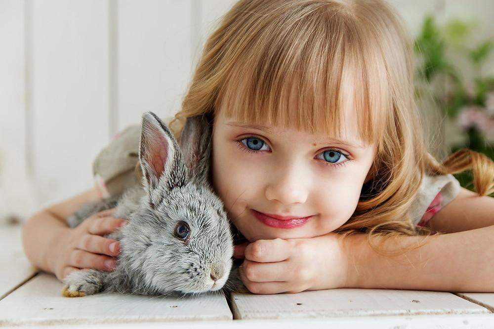 Lapin avec enfant