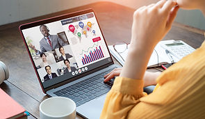 Video conference concept. Teleconference