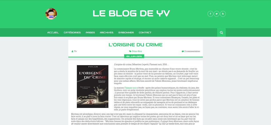L'Origine du crime sur le blog d'Yv