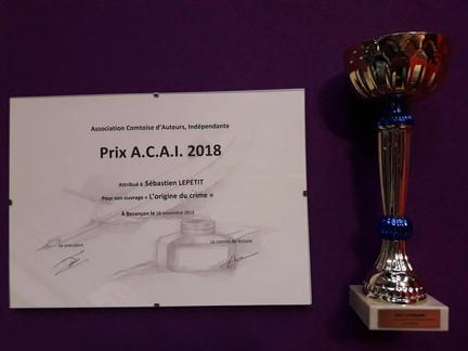 L'Origine du crime - Prix ACAI 2018